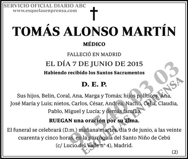 Tomás Alonso Martín